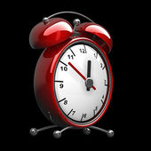 Red alarm clock 3d — Stock Photo