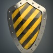 Shield depicting protection - Zdjęcie stockowe