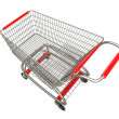 Empty shopping cart isolated on white background high resolution 3d render — Stock Photo
