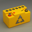 Yellow battery for car High resolution — Zdjęcie stockowe