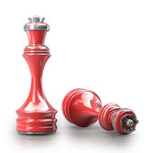 Chess RED Queen — Stock Photo
