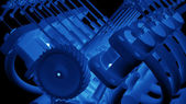 Engine 3d Technology Background — Stock Photo