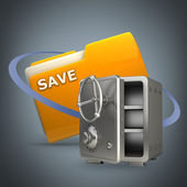 Folder designed to seem a safe — Stock Photo