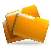 Yellow folder icon — Stock Photo