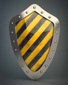 Shield depicting protection — Foto Stock
