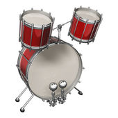 Red drum kit. — Foto Stock