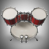 Red drum kit. — Stock Photo