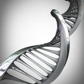 Silver dna spirals — Stock Photo