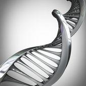 Argent spirales d'adn — Photo