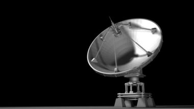 Satellite dishes antenna — Stock Video