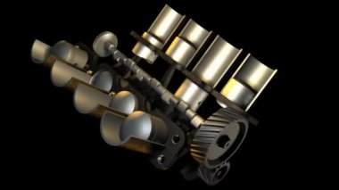 Internal combustion engine — Stock Video