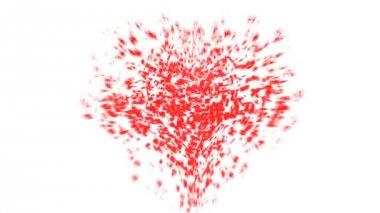 Heart explosion — Stock Video