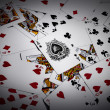 Playing cards background — Stock Photo