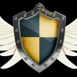 Shield with wings depicting protection  — Stock Photo