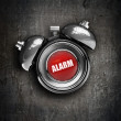 Alarm bell on grunge background — Stock Photo
