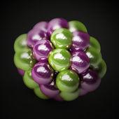 Atomic molecule isolated — Stock Photo