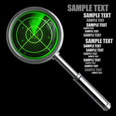 Green radar magnifying glass isolated — Stock Photo