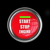 Start button isolated — 图库照片