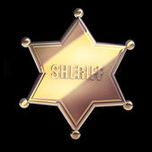 Golden sheriff star — Stock Photo