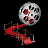Rolo de filme de cinema — Foto Stock