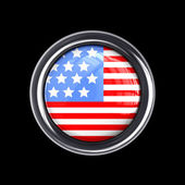 Flag button United State of America — Stockfoto