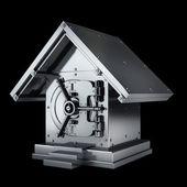 Bank safe house shape — Stock Photo