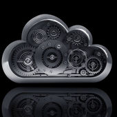 Metallic cloud — Stock Photo