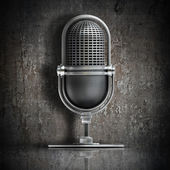 3D retro microphone — Stock Photo