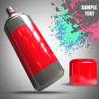 Spray can and Paint splat — Stock Photo