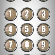 Stock Photo: Telephone contact number button