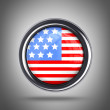 Flag button United State of America — Stock Photo