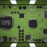 Desktop screen and CPU inside. — Stock Photo