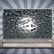 Laptop with broken screen — Foto Stock