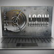 Abstract laptop safe — Stock Photo