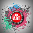 ART red button Paint splat. — Stock Photo