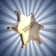 Stock Photo: Golden Sheriff Star