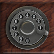 Silver telephone disc background — Stock Photo #32139071