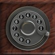 Stock Photo: Silver telephone disc background