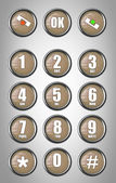 Telephone contact number button — Stock Photo