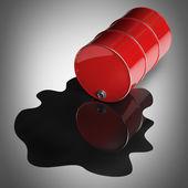 Red FUEL barrel — Stock Photo