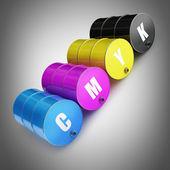 Colorfull FUEL barrel — Stock Photo