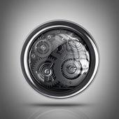 3d ikonę ustawienia. — Zdjęcie stockowe