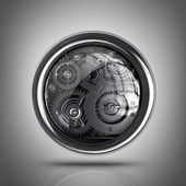 ícone de configurações 3d. — Foto Stock