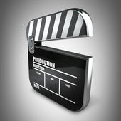 Clapper board — Stock fotografie