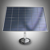 Solar battery panel 3d illustration — Stock Photo