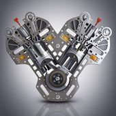 Concept of modern car engine. — Stock Photo