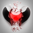 Red broken heart — Stock Photo