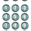 Stock Photo: Telephone contact number buttons
