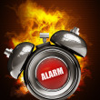 Alarm clock in Fire — Stockfoto