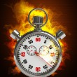 Stopwatch in Fire — Stockfoto